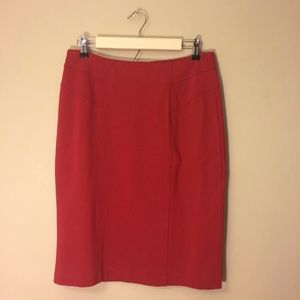 Chico's Red Seamed Ponte Pencil Skirt NWT